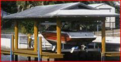 Sharkey's Boat House Boat Lifts