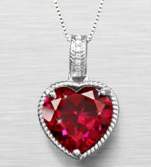 Joyful Heart Created Ruby & Created White