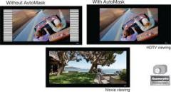Digital displaying system for home DVD AutoMask-V
