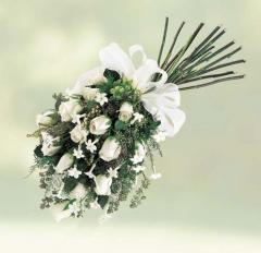 Rose and Stephanotis Inverted Hand-tied Bouquet