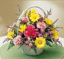 Basket of Mixed Cut Flowers