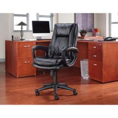 Clio High-Back Swivel/Tilt Leather Chair, Black