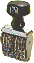 Pullman Numbering Stamps