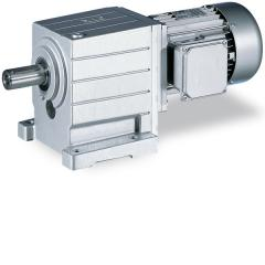 Helical gearbox with three-phase AC motor
