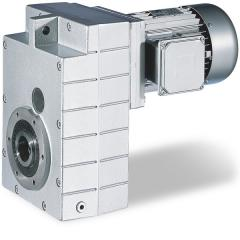 Shaft-mounted helical gearbox with three-phase AC