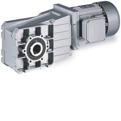 Bevel gearbox with three-phase AC motor