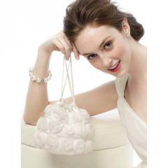Handbag, Chiffon Rosette