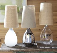 Glass Teardrop Table Lamp
