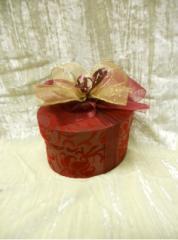 Small Red Velvet Oval Box