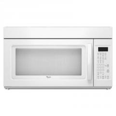 Microwave-Range Hood Combination, White-on-White