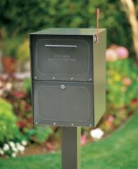 Locking Curbside Mailbox with Pedestal