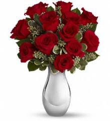 Teleflora's True Romance Bouquet with Red