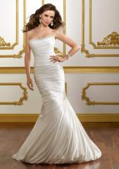 Style 1811 Soft satin with jeweled embroidery
