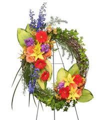 Brilliant Sympathy Wreath Funeral Flowers