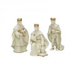 Sculpture, Innocence Nativity Three Kings by Lenox