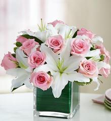 Modern Embrace™ Pink Rose & Lily Cube