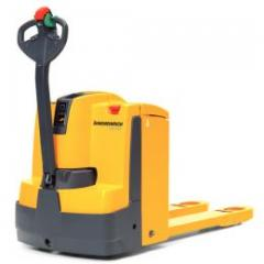 Electric pedestrian controlled pallet truck