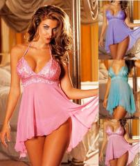 Sexy Babydoll and G-string Set Plus Size [8631Q]