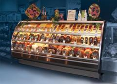 Curved Glass Service Meat Cases, all sizes and
