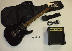 Ibanez GRX20 electric guitar, bag, strap, picks,