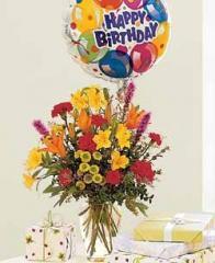 Birthday Explosion With Balloon