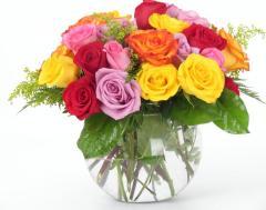 A Bubble Bowl Rose Sorbet Bouquet