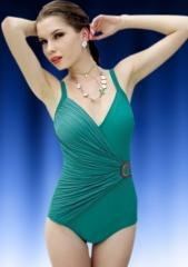 Pleated Design Monokini with O Ring