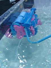 The Blue Diamond robotic pool cleaner