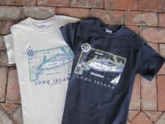 Map Of Long Island T-Shirts