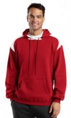 Pullover Hooded Sweatshirt with Contrast Colors