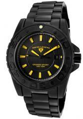 Men's Grande Sport Black Dial Yellow Accent