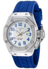 Women's Trimix Diver White MOP Dial Blue