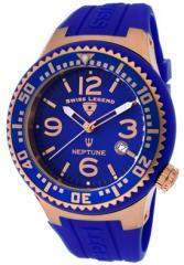 Men's Neptune Blue Dial Rose IP Case Blue