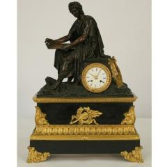 Gilt & Marble Clock, French Lois XVI Style