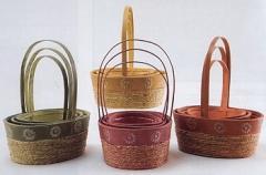 Colored Oval Basket Set/3
