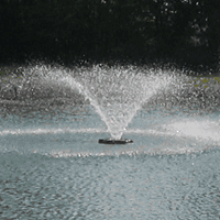 3/4 hp., 7.3 amp 120 volt Aerating Fountain with a