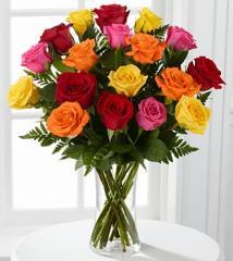 1 Dozen Long Stem Mixed Roses FW89