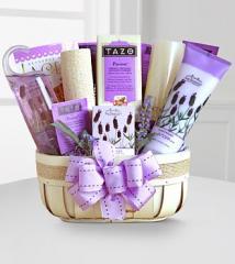 Fields of Lavender Gift Basket G385