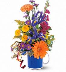 Cheerful Flowers in a Mug TF43-1