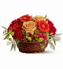 Warm Your Heart Flower Basket TFWEB324