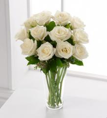 The FTD® White Rose Bouquet S3-4308