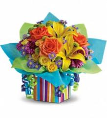 Teleflora's Rainbow Present Flowers T23-1A