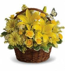 Basket Full of Wishes Flowers T27-2A