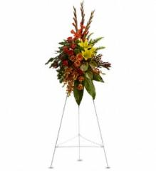 Tropical Tribute Spray Flowers T245-1A