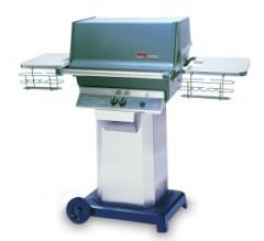 LP Gas Grill with Stainless Steel Column