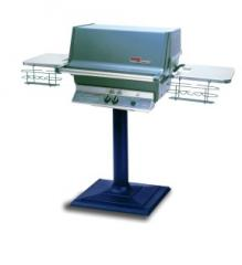 """Natural Gas Grill with 4"""" Round Post and"""
