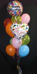 Happy Anniversary Ballon Cluster