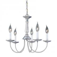 5-light Chandelier in Brushed Nickel finish