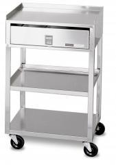 Stainless Steel 1 Drawer 2 Shelves