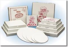 Lock Corner Pizza Cartons - Printed & Plain